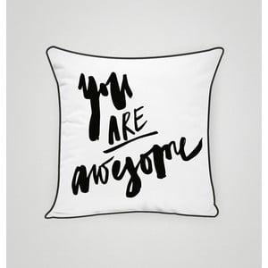 Poszewka na poduszkę You Are Awesome II, 45x45 cm