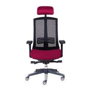 Krzesło biurowe Tokio, ciemna czerwień