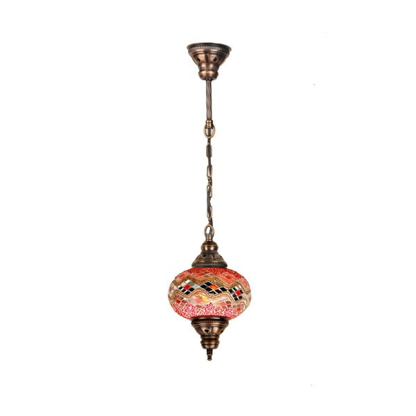 Lampa wisząca szklana Single IX, 17 cm