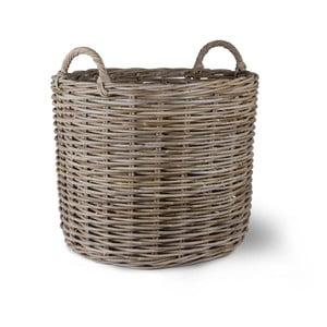 Rattanowy koszyk Log, 68x69 cm