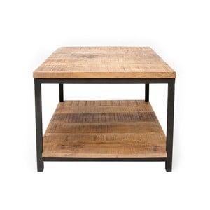 Czarny stolik z blatem z drewna mangowca LABEL51 Vintage, 60x60 cm