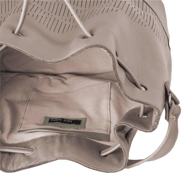 Skórzana torebka na ramię Cut Out, szara