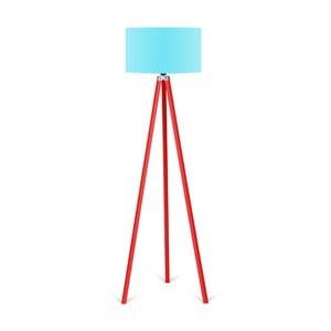 Lampa stojąca z turkusowym abażurem Kate Louise Redish
