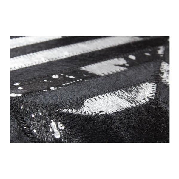 Dywan skórzany Dazzle 400 Dark, 80x150 cm