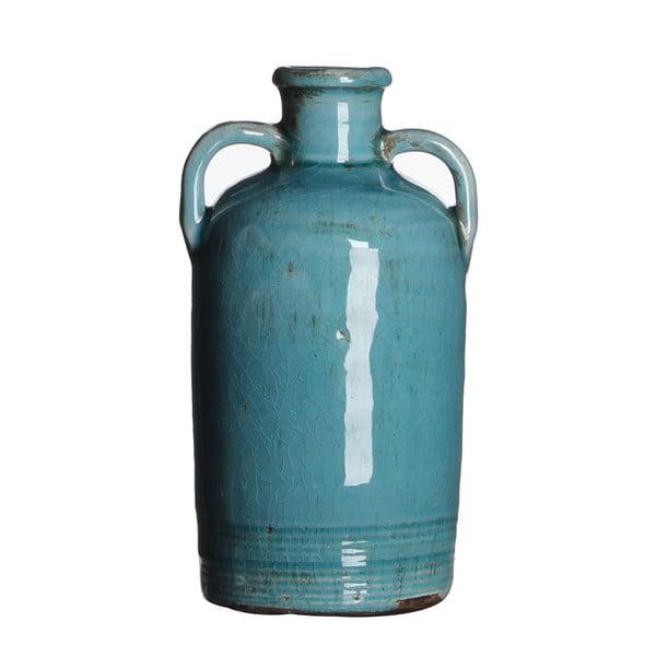 Wazon ceramiczny Sil Turquoise, 20x10 cm