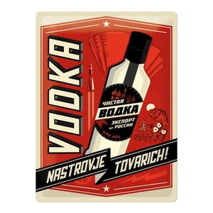 Tabliczka blaszana Vodka, 30x40 cm