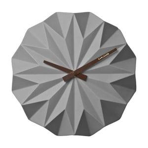 Szary zegar ścienny Karlsson Origami