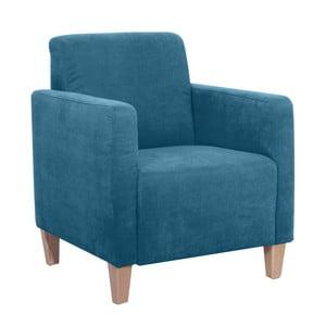 Niebieski fotel Max Winzer Milla Velor
