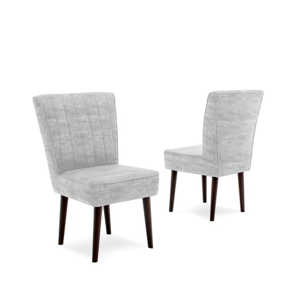Jasnoszare krzesło tapicerowane Vivonita Leila
