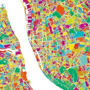 Obraz Homemania Maps Liverpool, 60x60 cm