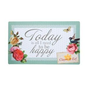 Wycieraczka To Be Happy, 73x44 cm