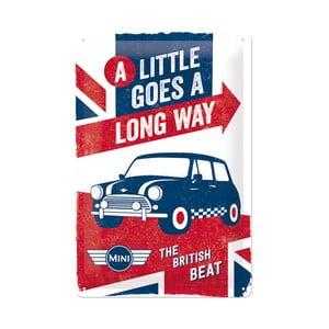 Blaszana tabliczka British Mini, 20x30 cm