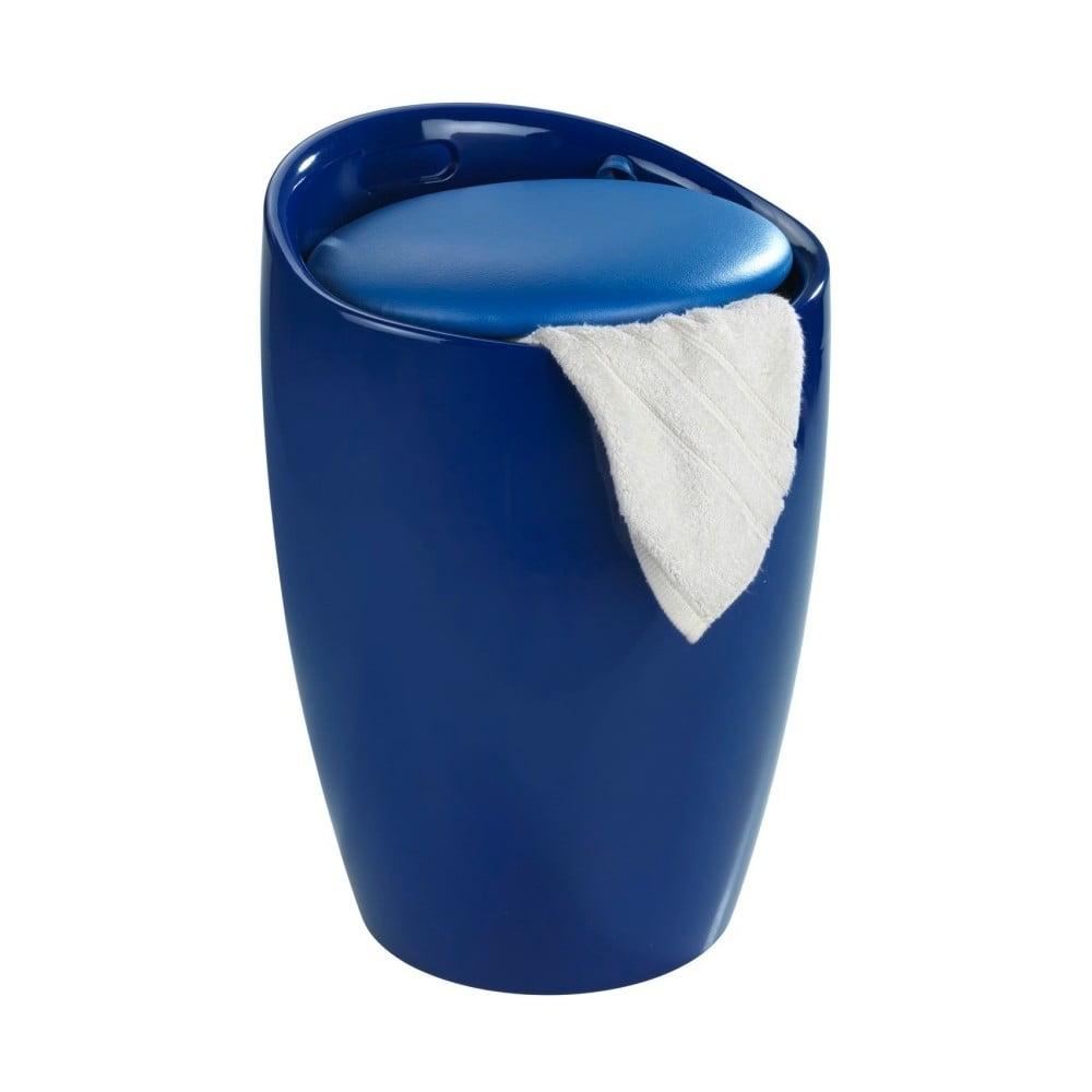 Niebieski kosz na pranie i taboret w jednym Wenko Candy, 20 l