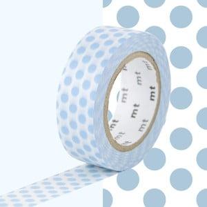 Niebiesko-biała taśma dekoracyjna MT Masking Tape Dots