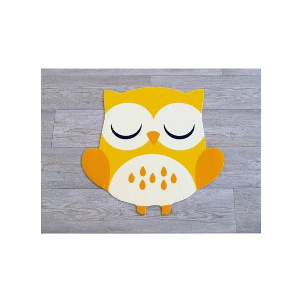 Żółty dywan dziecięcy Zala Living Owl, 66x66cm