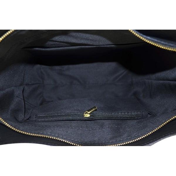 Skórzana torebka Carla, niebieska