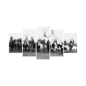 Wieloczęściowy obraz Black&White no. 18, 100x50 cm