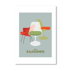 """Plakat autorski """"Saarinen Chairs"""""""