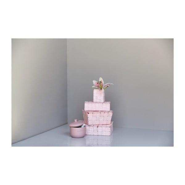 Różowy koszyk Wenko AdriaCubo