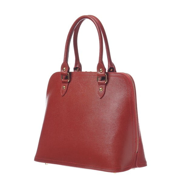 Skórzana torebka Fan Bag Red