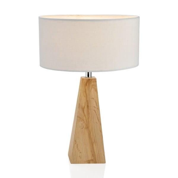 Drewniana lampa stołowa Conic