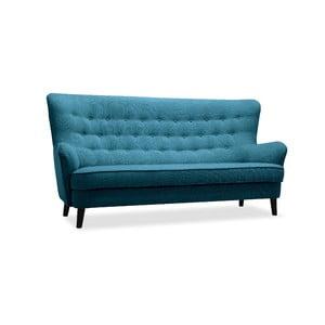 Turkusowa sofa trzyosobowa Vivonita Fifties