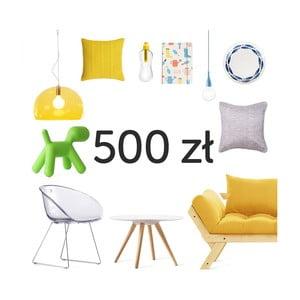 Elektroniczna karta podarunkowa o wartości 500 zł