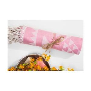 Różowy ręcznik hammam Arcane