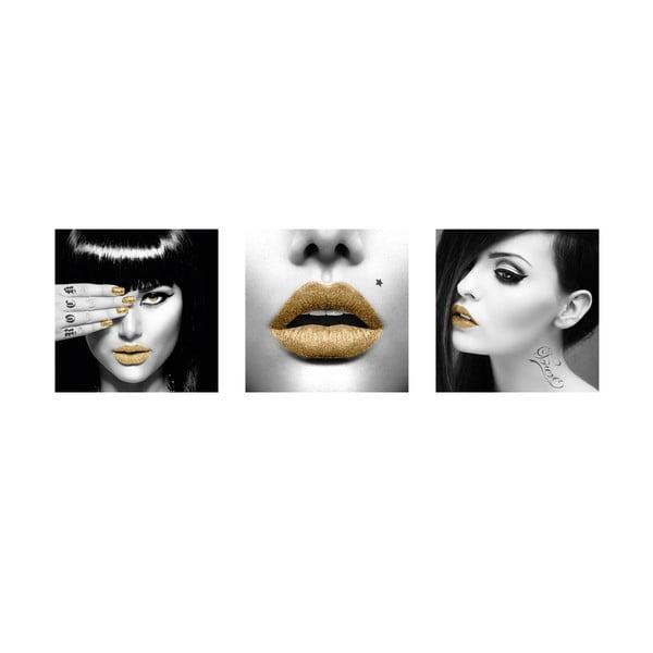 Naklejki Golden Lips