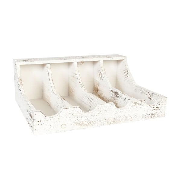 Pojemnik drewniany White