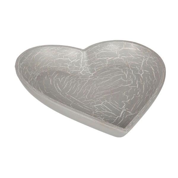 Drewniana taca Grey Heart
