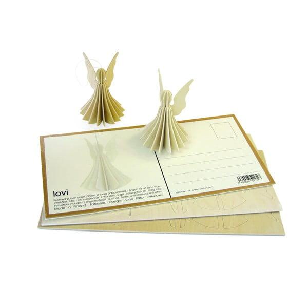 Składana pocztówka Lovi Angel White, 9 cm