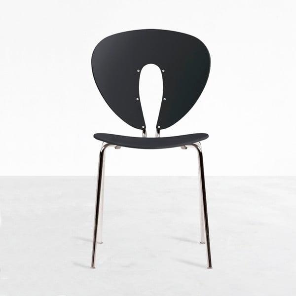 Krzesło Globus, czarne/błyszczące nogi