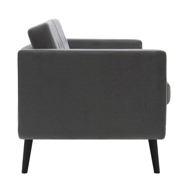 Sofa trzyosobowa VIVONITA Sondero Light Grey, czarne nogi