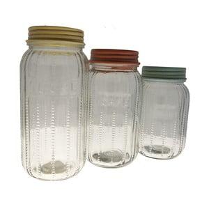 Zestaw 3 szklanych pojemników Jar