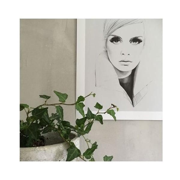 Plakat autorski Twiggy in Grey, 30x40 cm