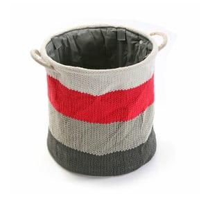 Kosz Stripes Knitted, 36x38 cm