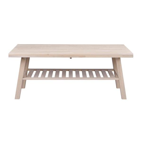 Matowy lakierowany stolik z drewna dębowego Folke Heimdal