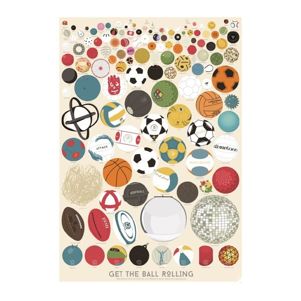 Plakat The Great Collection of 127 Balls, A2