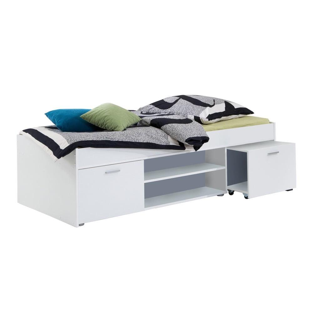 łóżko Jednoosobowe Carlo 90x200 Cm Białe Bonami