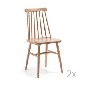 Zestaw 2 brązowych krzeseł La Forma Albeup