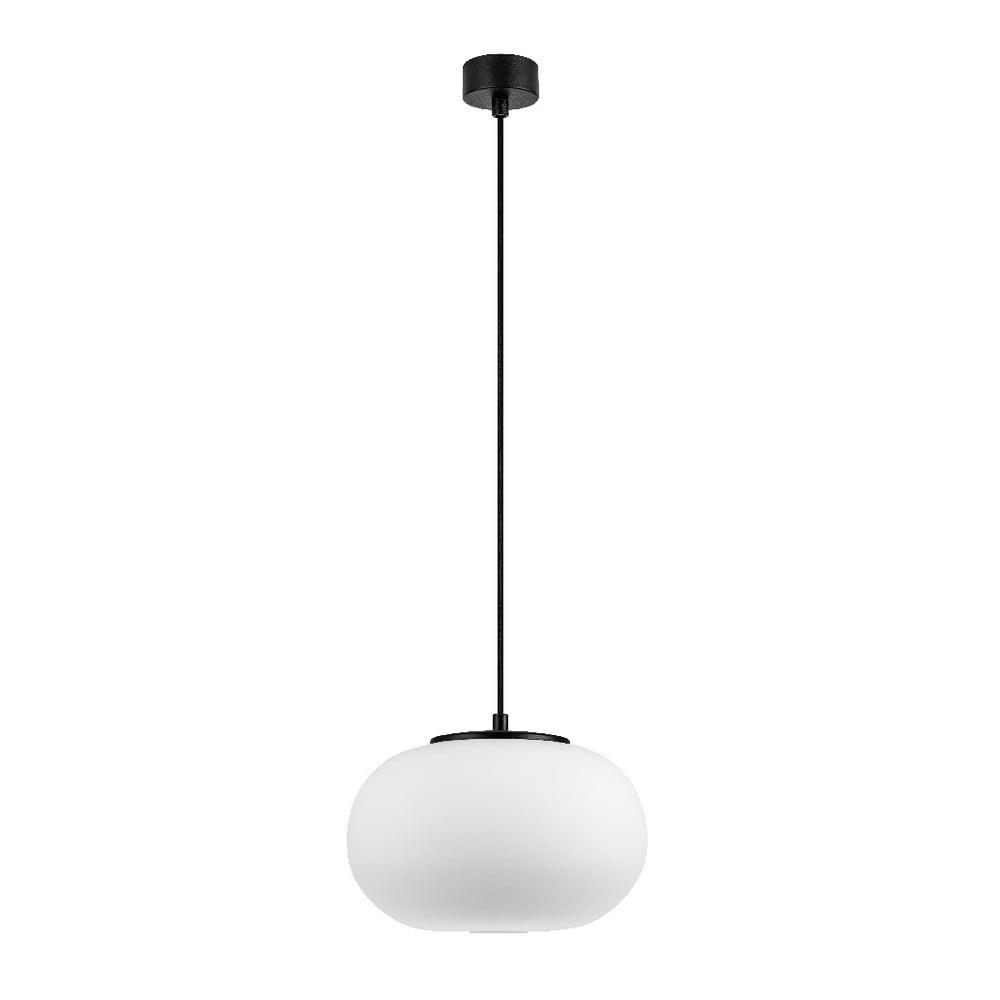 Biała lampa wisząca z czarną oprawką Sotto Luce DOSEI