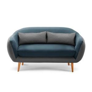 Sofa trzyosobowa Meteore Grey/Turquoise