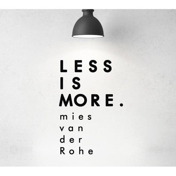 Naklejka dekoracyjna Less Is More