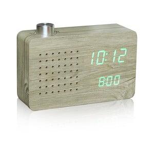 Jasny budzik z zielonym wyświetlaczem LED i radiem Gingko Click Clock