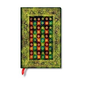 Notes w twardej oprawie Paperblanks Verde, 9,5x14cm