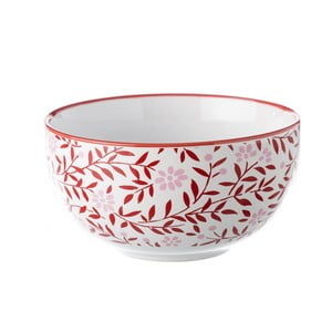 Czerwono-biała miska Unimasa Redos, Ø 13,5 cm