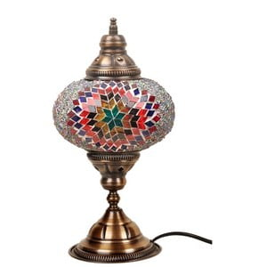 Szklana lampa Homemania Persefona, ⌀17cm