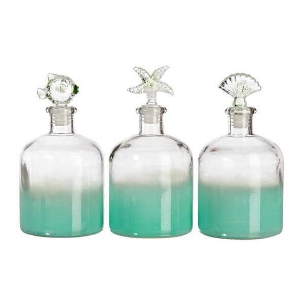 Zestaw 3 szklanych pojemników Sea