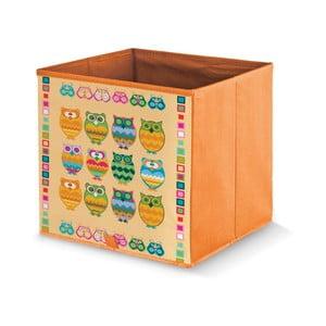 Pomarańczowe pudełko Domopak Owls